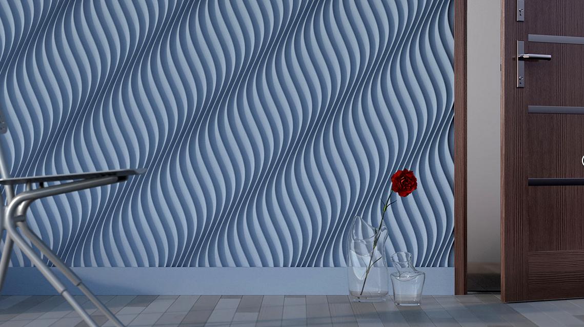 Гипсовые 3-Д панели для стен