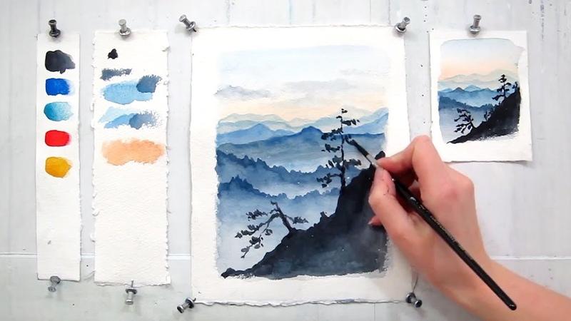 Как научиться рисовать акварелью?